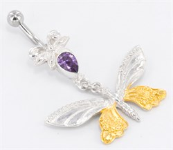 Butterfly GOLD PLATED Belly Button Jewelry - фото 11331