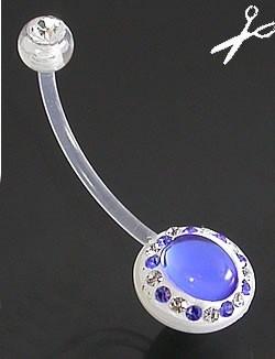 Серьга в пупок для беременных. Биопласт - фото 11364