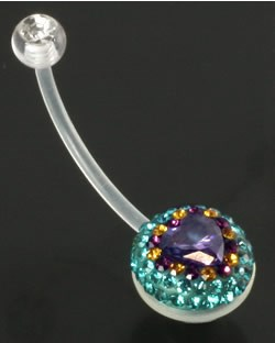 ircular Stone Set Ball 14g Flexible BioPlast - фото 11366