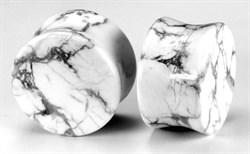 Плаги белый мрамор - фото 11697