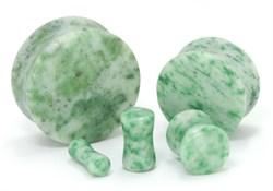 Плаги зеленый мрамор - фото 11729
