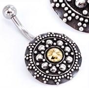 """Украшение в пупок 7/16"""" Indonesian Sun Sterling Silver"""