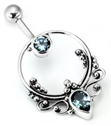 Bali FRAME Sterling Silver Navel Belly Jewelry
