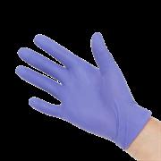 Перчатки нитриловые - 5 пар (Фиолетовые)