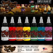 WORLD FAMOUS INK SIMPLE COLOR 7 SET - 1/2 OUNCE